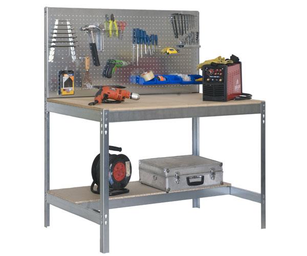 Banco de trabajo con panel de herramientas bt 2 900 for Dimensiones mesa de trabajo