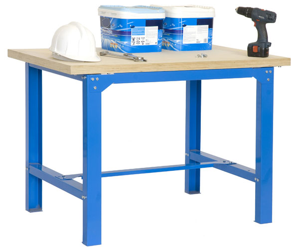 Mesa de trabajo superficie de aglomerado MDF 35mm BT-6 PLYWOOD 1200 AZUL